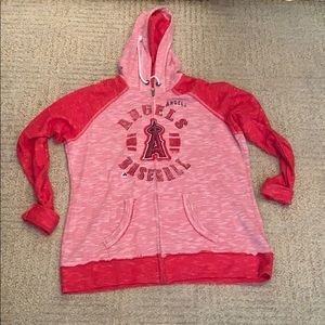 Women's MLB Los Angeles Angels ZIP Up Hoodie